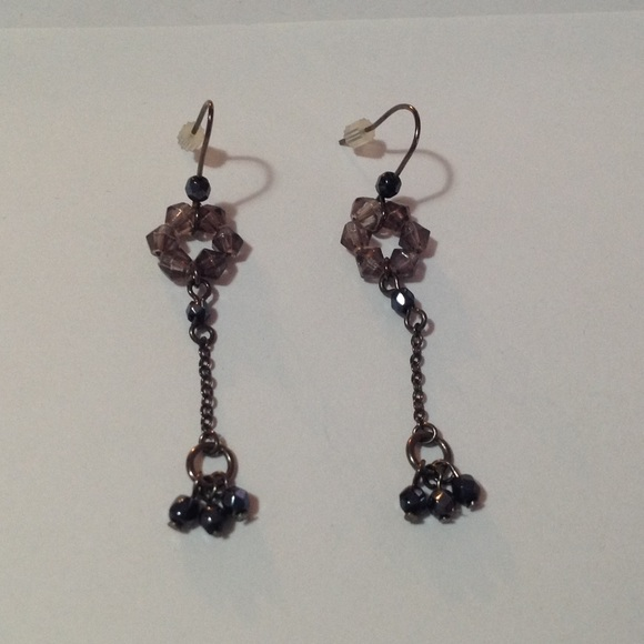 Jewelry - Black Beaded Dangle Fashion Earrings